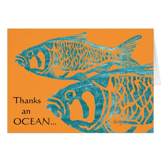 Funny Blue Fish Thank You Cards Notecards Zazzle