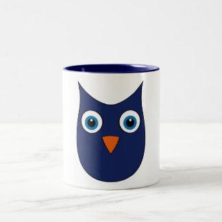 Funny blue Owl - Eyes wide open... Mugs