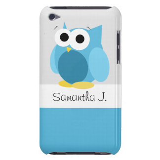 Funny Blue Owl - Personalized iPod Touch 4G Case iPod Touch Case-Mate Case