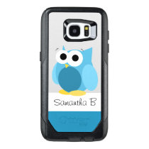 Funny Blue Owl Personalized Samsung Galaxy S7 Edge