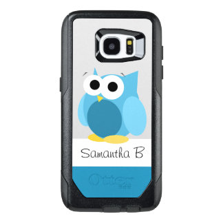 Funny Blue Owl Personalized Samsung Galaxy S7 Edge OtterBox Samsung Galaxy S7 Edge Case