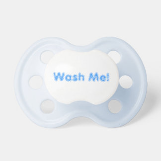Funny Blue Pacifier For Boy Wash Me Keep it Clean BooginHead Pacifier