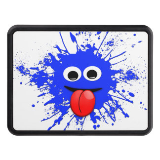Funny Blue Paint Splat Dude Hitch Cover