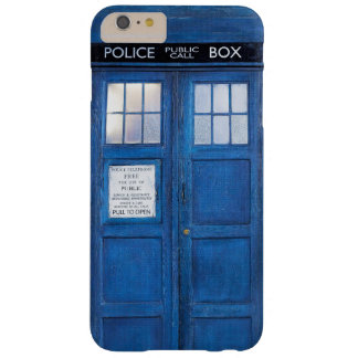 Funny  Blue Phone Booth Call Box Barely There iPhone 6 Plus Case
