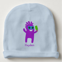 Funny Blue Purple Kid Ice Pop Sunglasses Custom Baby Beanie