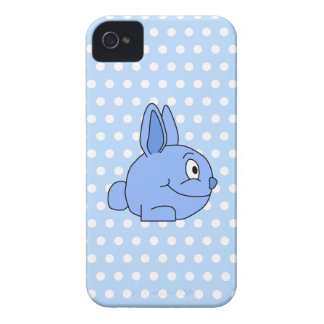 Funny Blue Rabbit Cartoon. Case-Mate iPhone 4 Case