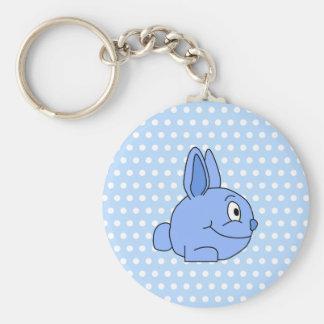 Funny Blue Rabbit Cartoon. Key Chains