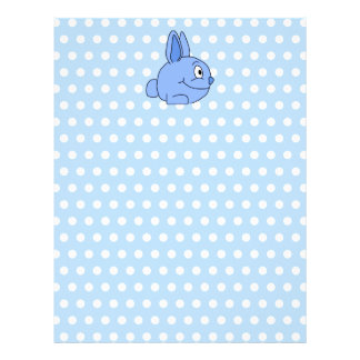 Funny Blue Rabbit Cartoon. Personalized Letterhead