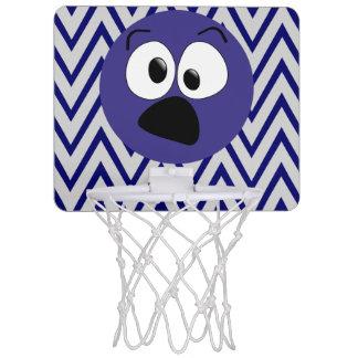 Funny Blue Silly Face Mini Basketball Hoop