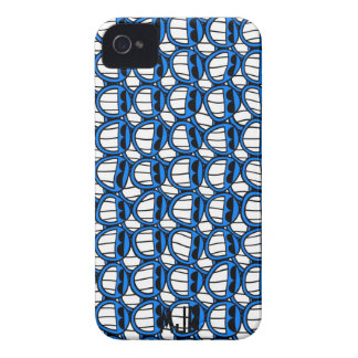 Funny Blue Smiley Faces with Shades iPhone 4 Case