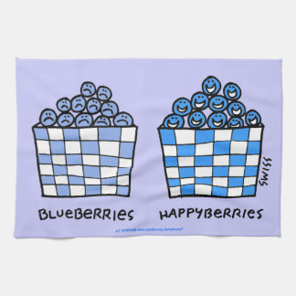 Funny Blueberries Lover Kitchen Towel