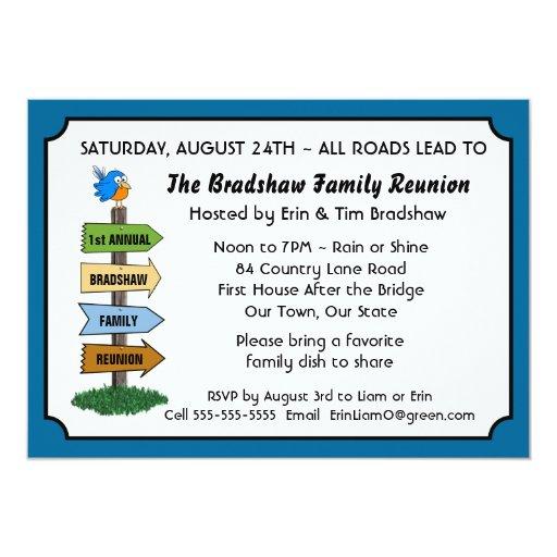 Family Reunion Invitation Templates for amazing invitations template