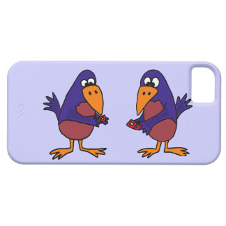 Funny Bluebirds Texting Cartoon iPhone 5 Covers