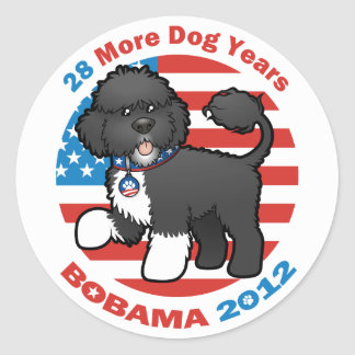 Funny Bobama the Dog 2012 Elections Classic Round Sticker