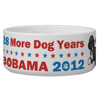 Funny Bobama the Dog 2012 Elections Dog Bowls