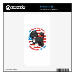 iPhone 4/4S Skin with Portuguese Water Dog Phone Cases design