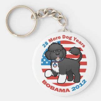 Funny Bobama the Dog 2012 Elections Keychain