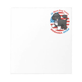 Funny Bobama the Dog 2012 Elections Notepad