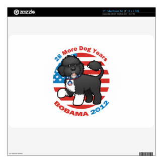 """Funny Bobama the Dog 2012 Elections Skins For 11"""" MacBook Air"""