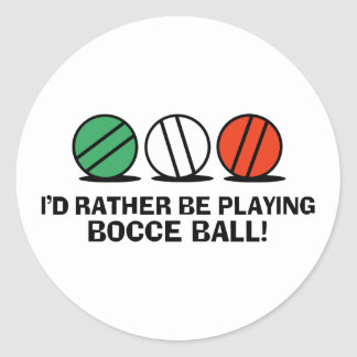 Funny Bocce Ball Classic Round Sticker