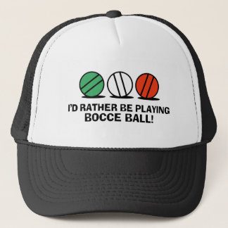 Funny Bocce Ball Trucker Hat