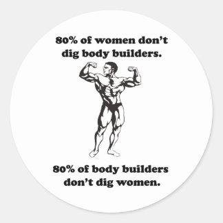 Funny Bodybuilder Shirt Classic Round Sticker