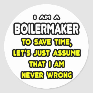 Funny Boilermaker T-Shirts and Gifts Classic Round Sticker