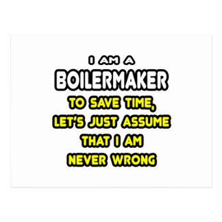 Funny Boilermaker T-Shirts and Gifts Postcard