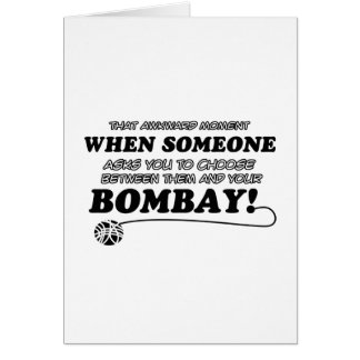 Funny bombay designs card