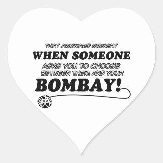 Funny bombay designs heart sticker