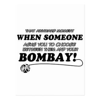 Funny bombay designs postcard