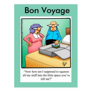 Funny Bon Voyage Humor Postcard