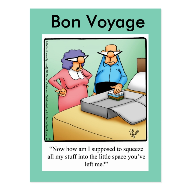 Funny Bon Voyage Humor Postcard Zazzlecom - Create Your Own Wall Stickers