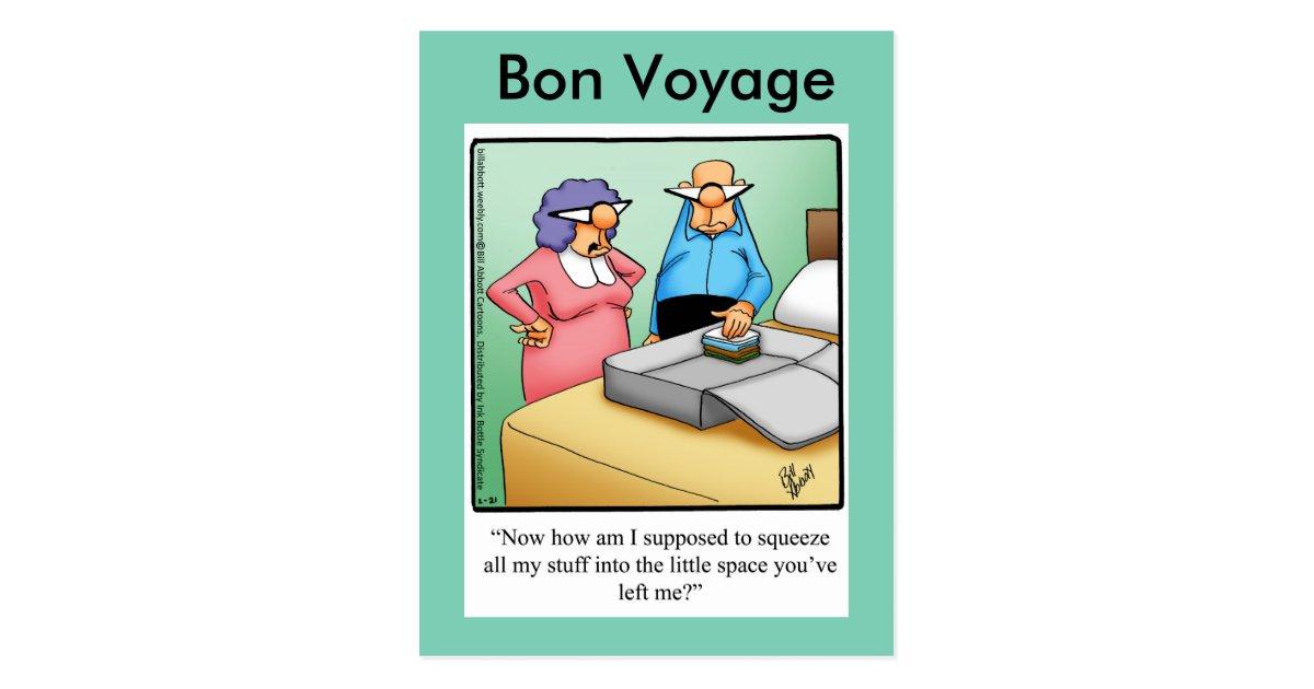 Funny Bon Voyage Humor Postcard Zazzle Com