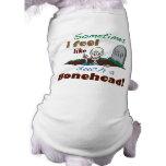 Funny Bonehead Skeleton Shirt for Dogs Pet Tee