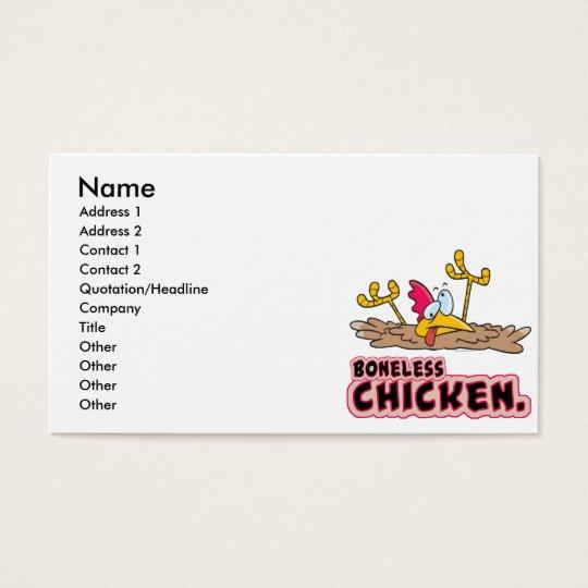 funny boneless chicken cartoon business card