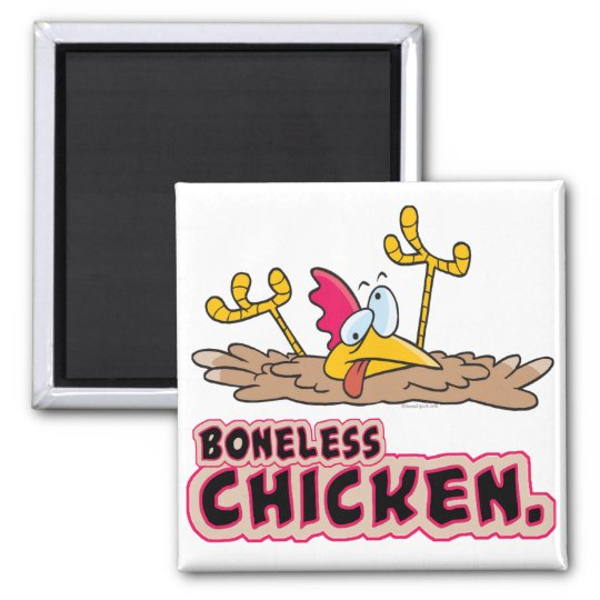funny boneless chicken cartoon magnet