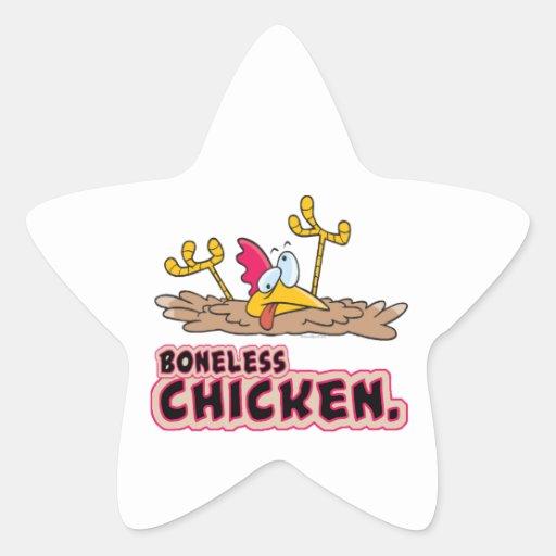 funny boneless chicken cartoon sticker