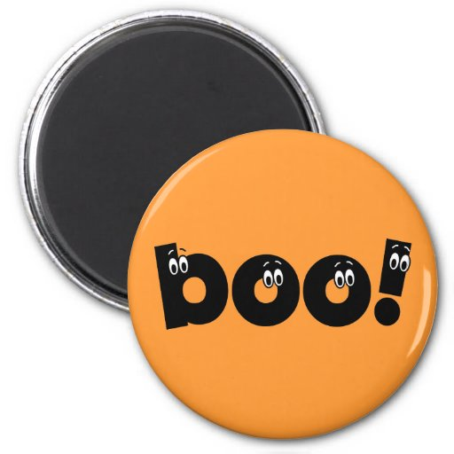 funny boo halloween 2 inch round magnet