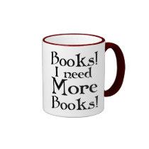 Funny Book Addict Mug Ringer Mug