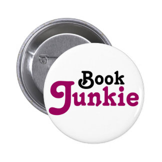 Funny Book Junkie Reading Gift Button