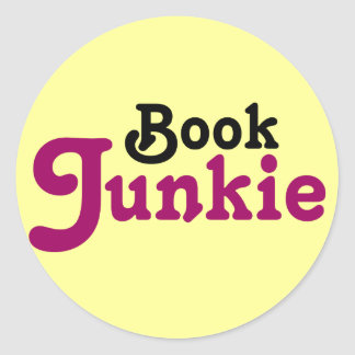 Funny Book Junkie Reading Gift Classic Round Sticker