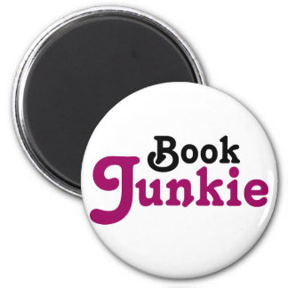 Funny Book Junkie Reading Gift Magnet