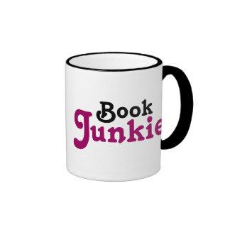 Funny Book Junkie Reading Gift Ringer Mug