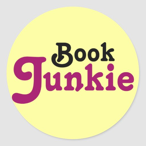Funny Book Junkie Reading Gift Stickers