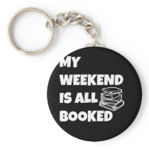 Funny Book Lover Design Book Lover Gift My Keychain