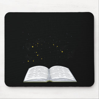 Funny Book Lover Worm Reading Gift Mouse Pad