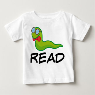 Funny Bookworm READ Gift Baby T-Shirt