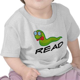 Funny Bookworm READ Gift Tee Shirts