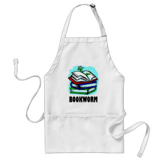Funny Bookworm Reading Gift T-shirt Adult Apron
